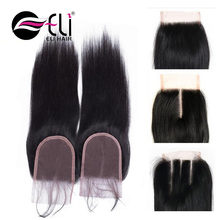 6A 4X4 Straight Free Part Brazilian Virgin Hair Lace Top Closure Human Hair Closure Brazilian Lace Closures