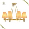 Home indoor lighting modern large cloth chandelier hanging pendant light
