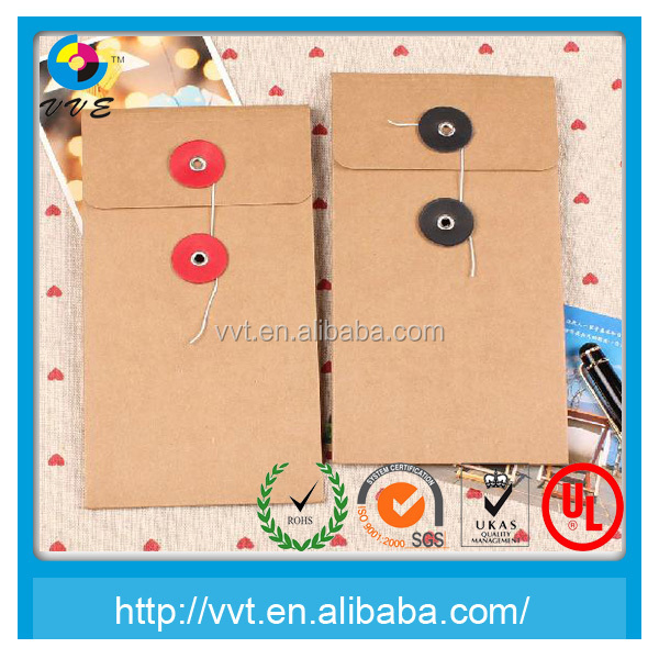 Clasp vellum paper envelope/brown kraft paper envelope