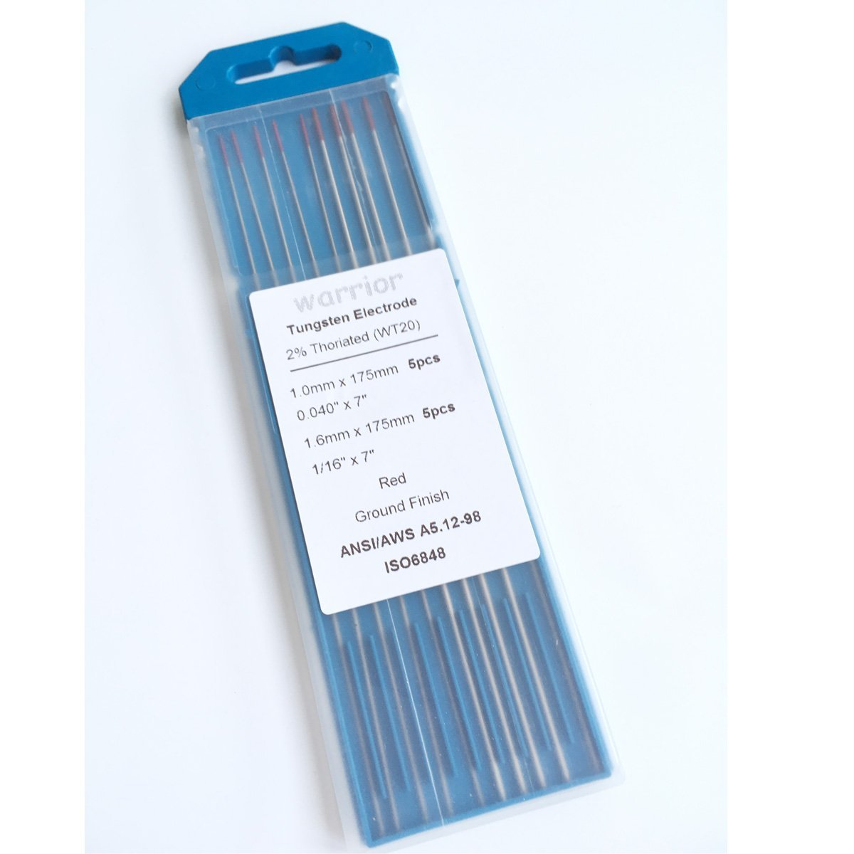 """.020/"""" x 7/"""" Amplify Brand 2/% Lanthanated Tungsten Electrodes 10 pack"""