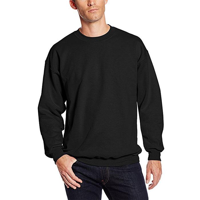 custom Heavy weight pullover crewneck 100% cotton mens sweatshirt without hood