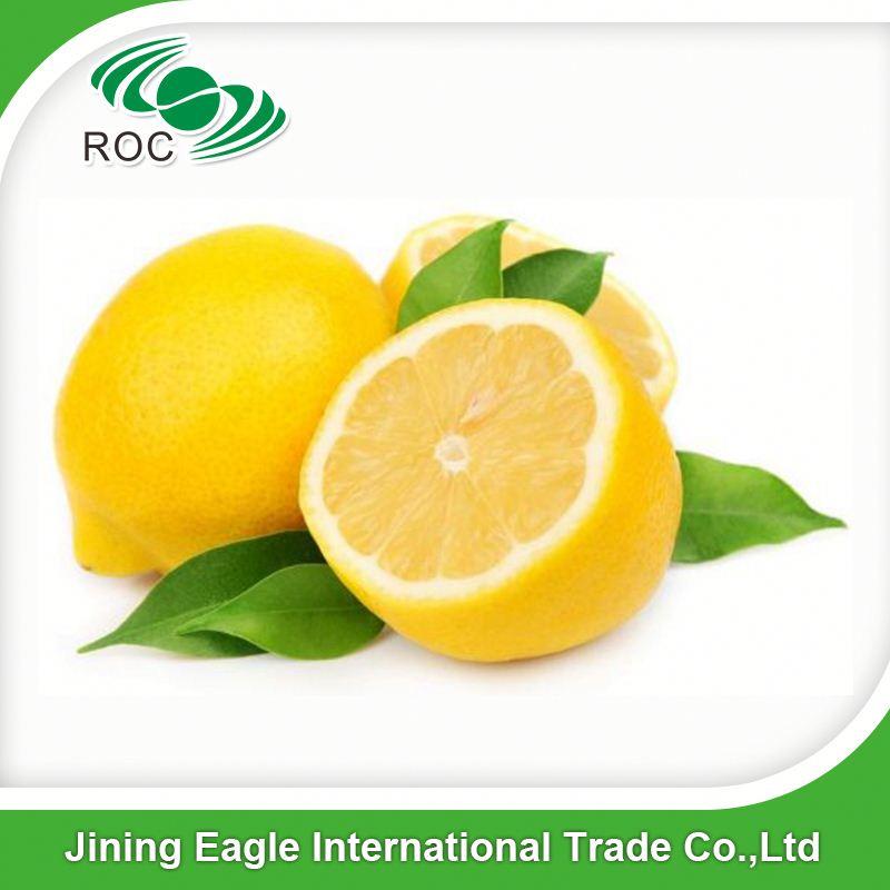 Fresh citrus yellow oval eureka lemon