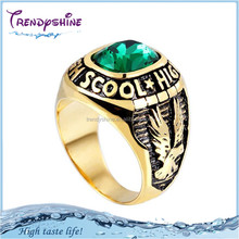 Antique men's gold titanium ring for indonesia gemstone