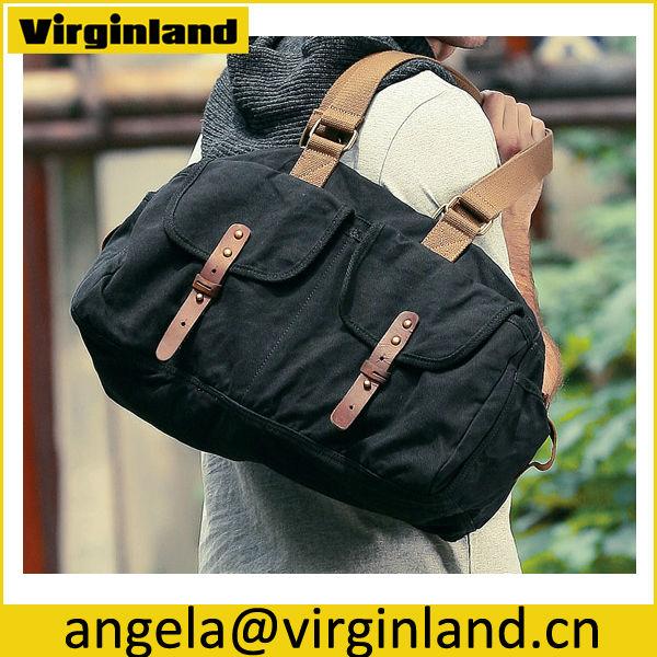 b21ef944c4f4 1700 High Quality Casual Mens Black Hand Lift Canvas Travel Gym Bag ...