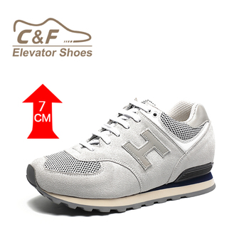 2019 CF Affordable fashion cow leather cheap brand custom sports casual height increasing shoes men
