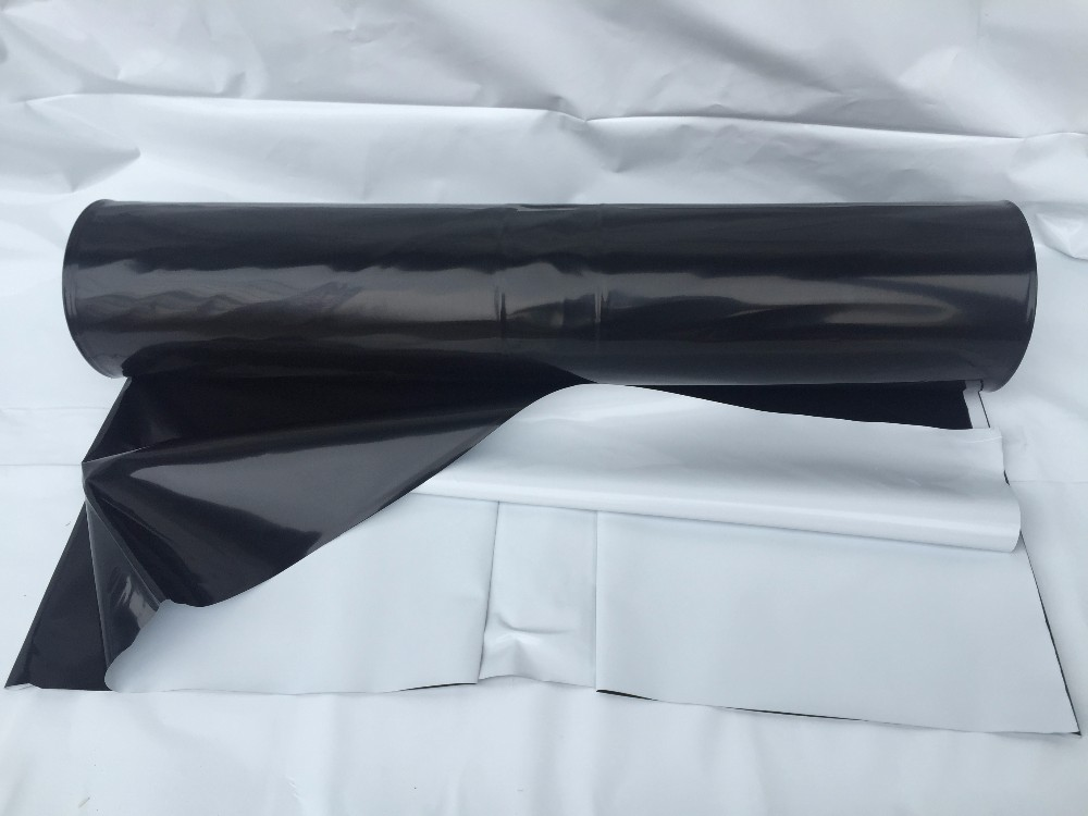 Black and white reflective hydroponics poly sheeting for hydroponic grower