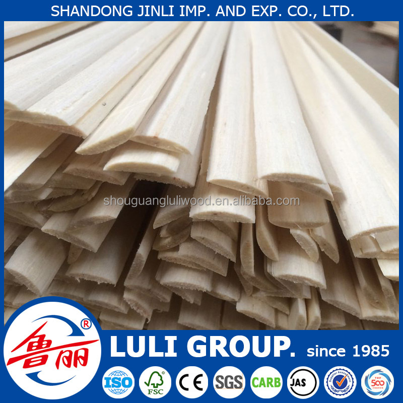 chinese decorative 1/4 round wood moulding directly from factory LULI GROUP