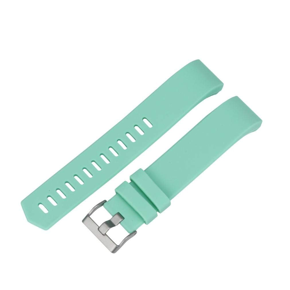Watch Band,Howstar New Fashion Sports Silicone Bracelet Strap Band For Fitbit Charge 2,Sporting Goods accessories (Mint Green)