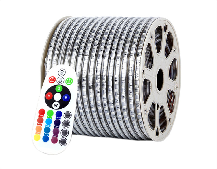 110 volt smd 5050 waterproof 100m one roll RGB led strip