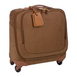 China Wholesale Suede Pilot Trolley Bag Custom Cheap Leather Soft Suitcase Trolley