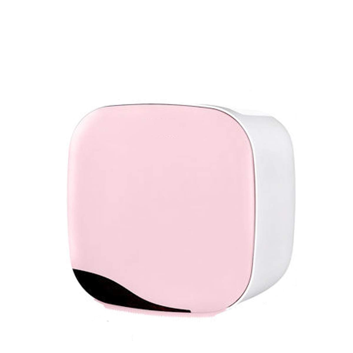 Q&F Wall Mount Toilet Paper Holder,Tissue Roll Hanger,Toilet Paper Roll Holder With Storage Box-anti-rust,Waterproof,Punch Free,Abs Plastic-pink