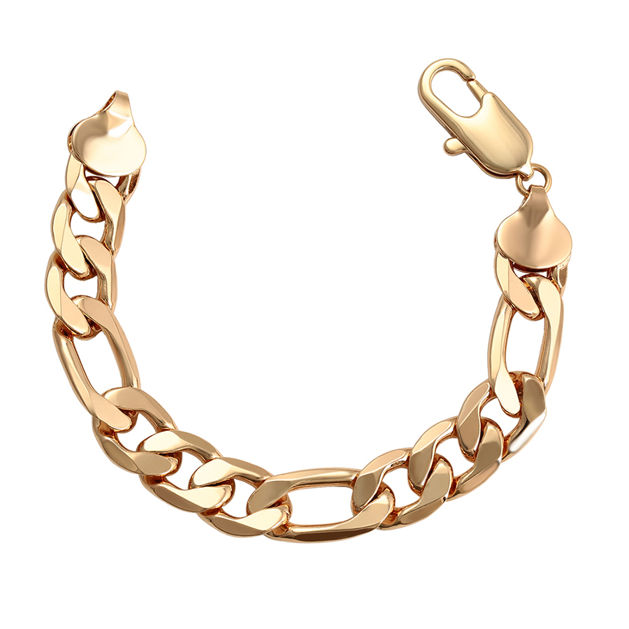 Alibaba.com / 76500 Xuping Jewelry  Fashion Hot Sale 18K Gold Plated big size  Men Chain Bracelet with Copper Alloy