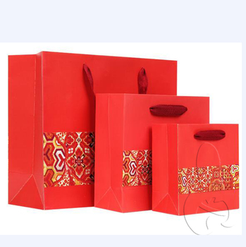Red Wedding Chinese New Year Extra Large Gift Bag High Quality Paper Treat Gfit Product