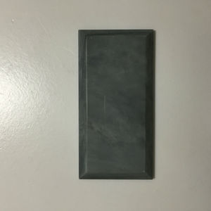 honed nero marquina marble 3x6 beveled tile