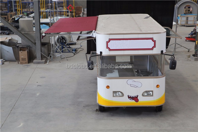 New Condition fast food mobile kitchen trailer for hamburger