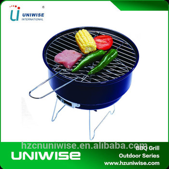 Mini Tabletop Portable Hibachi Grill Simple Round Charcoal Bbq Grill