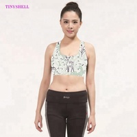 Private Label Wholesale Fitness Wear Shockproof Racerback Padded Sport Gym Tops Yoga Bra Wear for Women