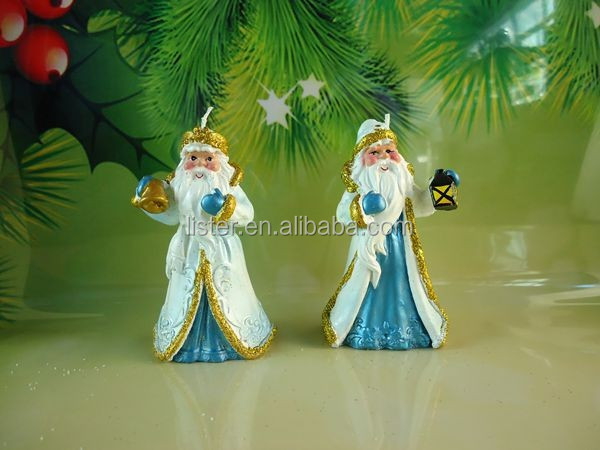 High Quality Santa Claus Model Shape Wax Candle