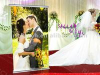 Wedding decoration with dynamic images and beautiful pictures of roll up banner