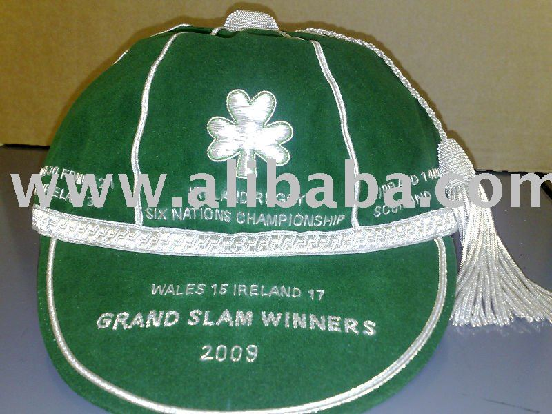 Commemorative Replica Ireland Rugby Cap Grand Slam 2009