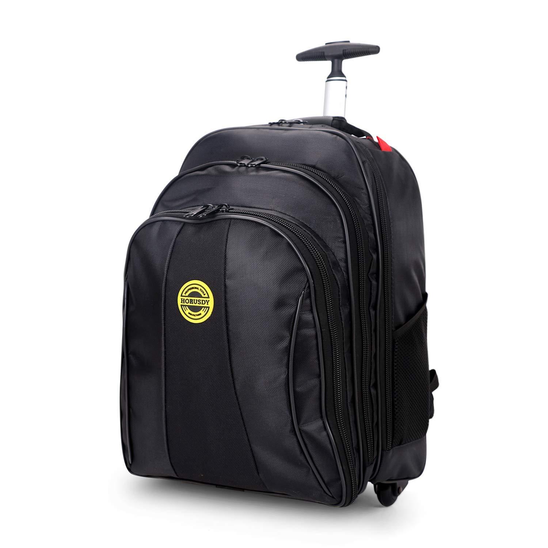 HORUSDY Tool Backpack Bag, Rugged Rolling Backpack On Wheels Power Tools Storage Wheeled Bag