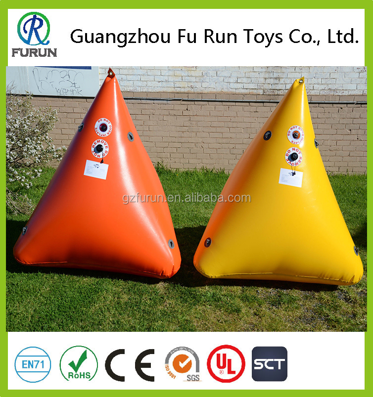 Sailfish inflatable triangle water buoy marker buoy for water event