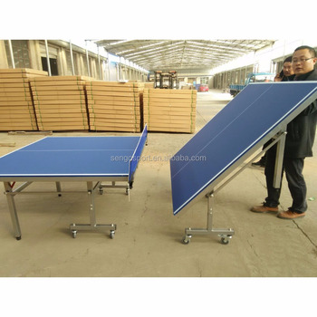 Standard Size Outdoor Table Tennis Table Moving Ping Pong Table Wholesales