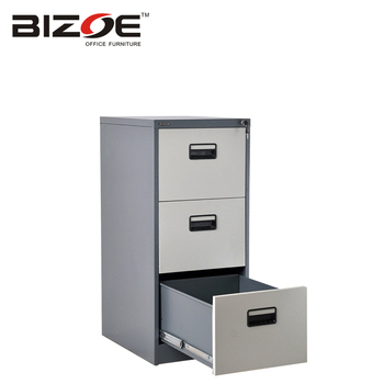 Office Furniture Kd Structure 3 Drawer Hanging Steel File Cabinet