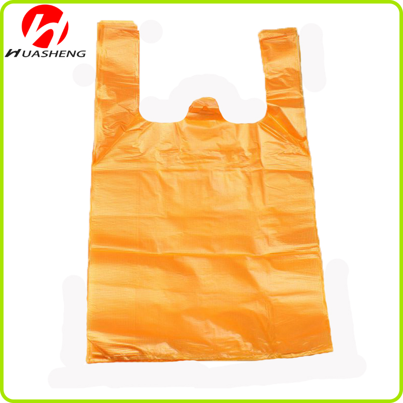 HDPE Plastic Recycle T-shirt Tas