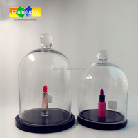 Wholesale high quality clear glass bell jar with base