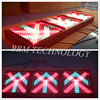 400mm cross arrow access led traffic sign