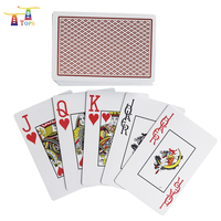 wholesale OEM factory custom cheap PVC printing table game poker card 100% arcycle plastic playing cards