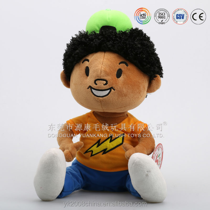 China Plush Toys Manufacturers Made 3d Face African American Dolls ...