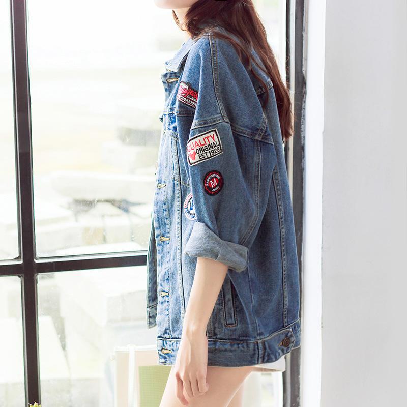 W2522 2016 gro handel neue ankunft kurze oversize gewaschen damen jeansjacke jacke produkt id - Jeansjacke damen oversize ...