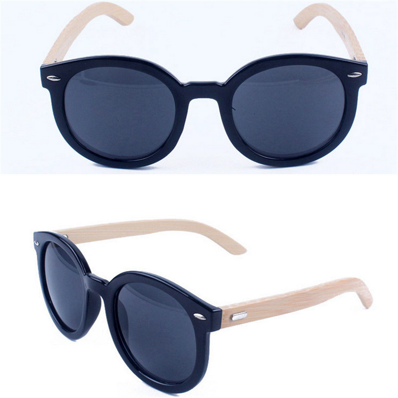 cf81b32655c8 Get Quotations · Meter classic bamboo foot leg nail nails black round-framed  sunglasses meter wooden head Sunglasses