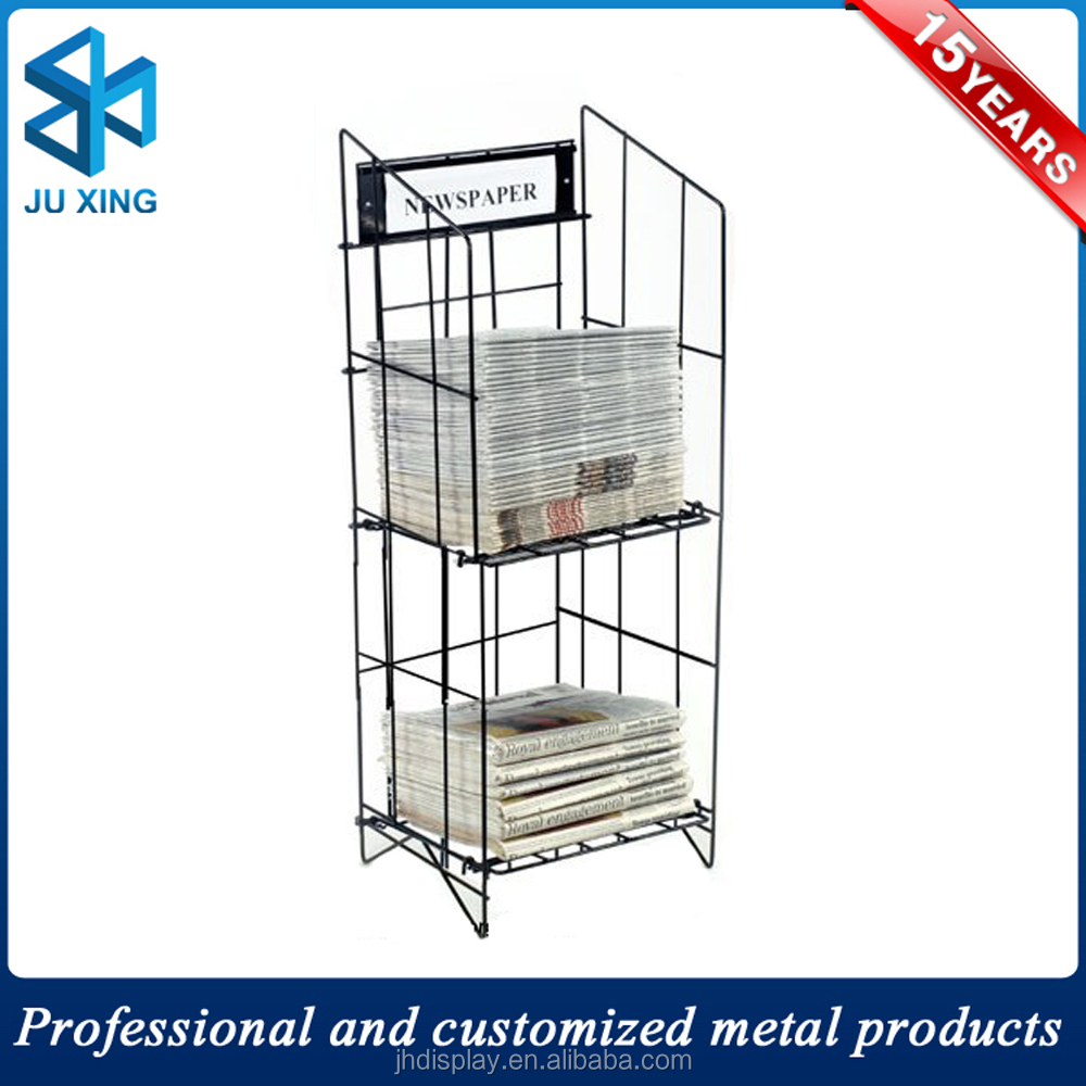 Promotion Metal Wire Newspaper Stands Sale Magazine Rack Metal ...