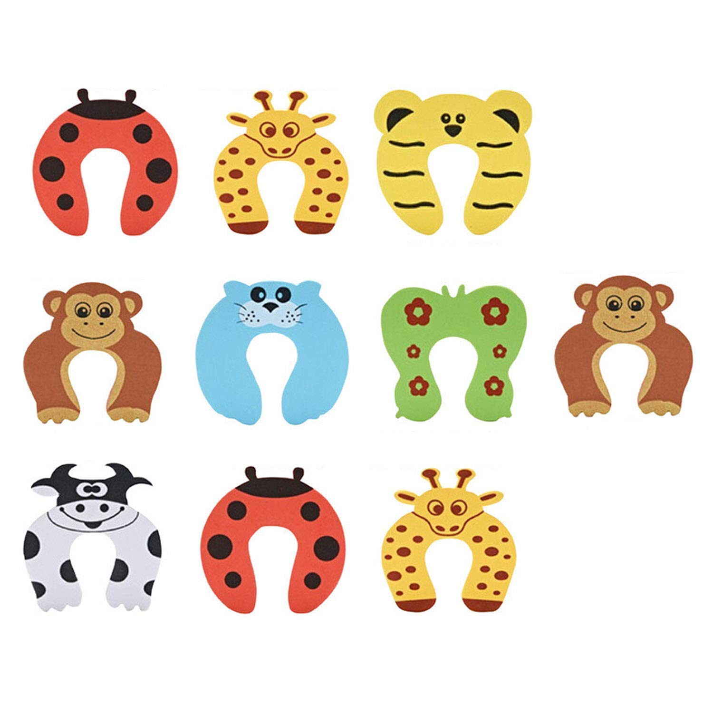 Migavan 10pcs Cute Funny Cartoon Animal EVA Doorstop Door Stop Stopper Cushion for Baby Children Safety Finger Protection Random Style