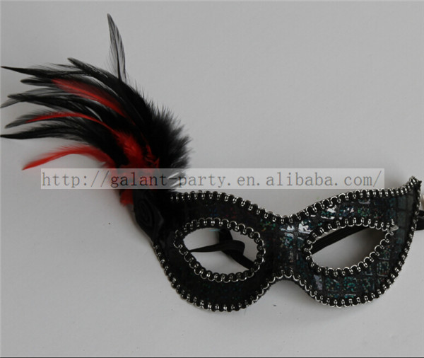 Factory 2014 Man and Woman Holloween Chiristmas Ostrich Feather Masquerade Mask Dance Mask Party and Festival Eyemask