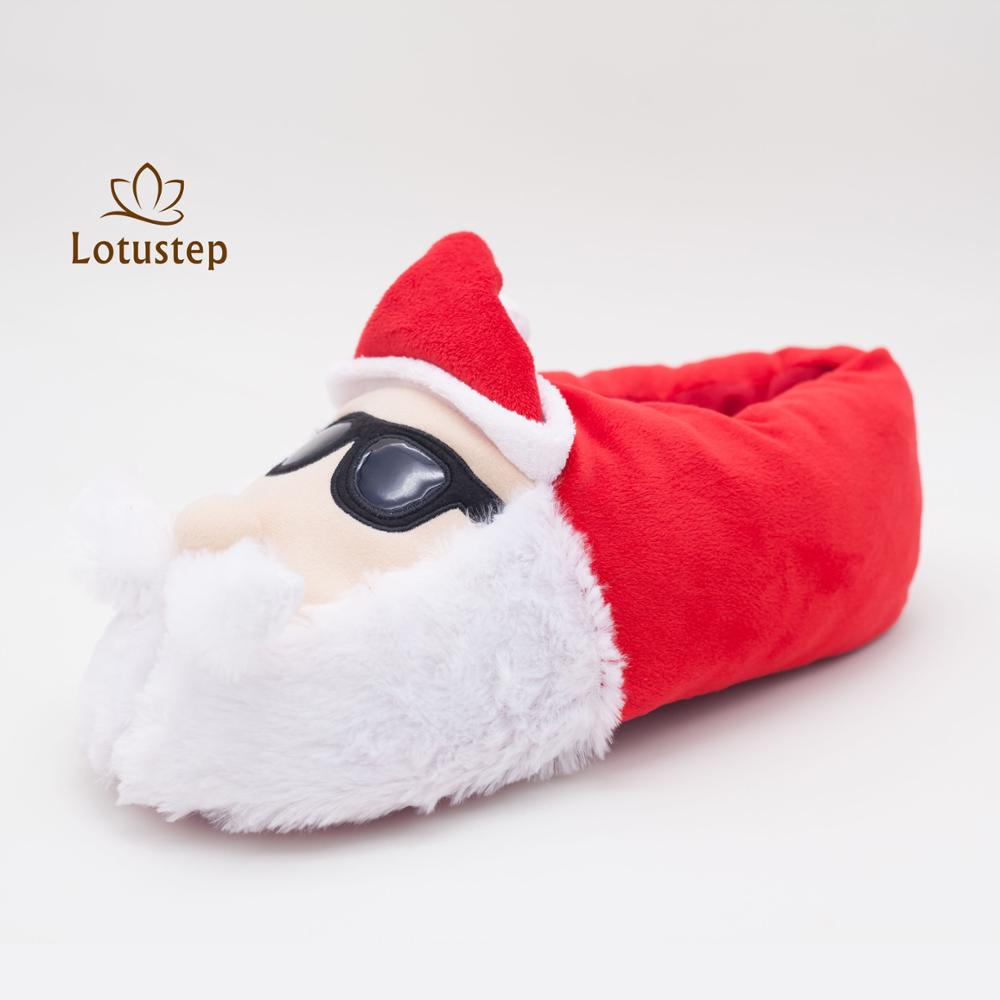 2017 Winter Wholesale Unisex Christmas Style Indoor Santa Slippers