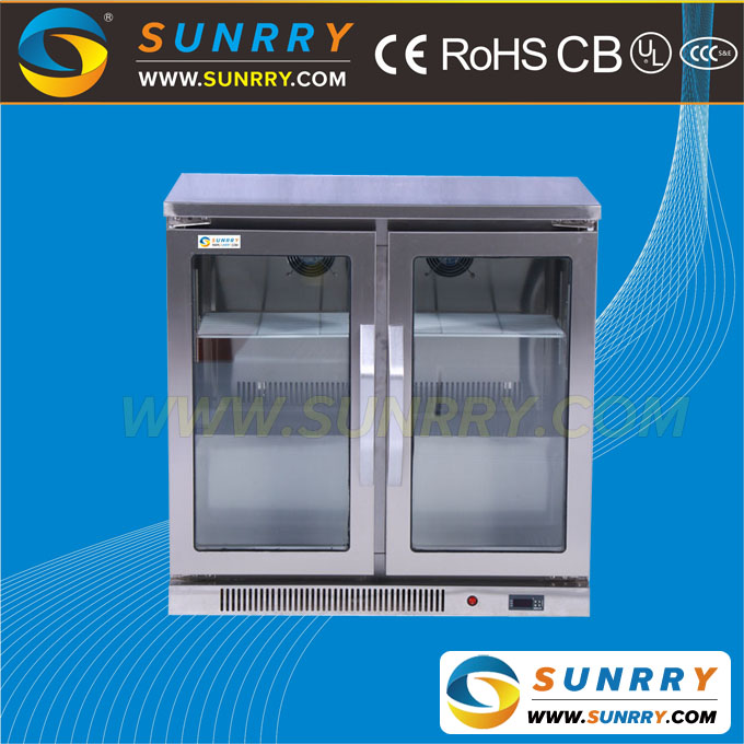Commercial upright home blast freezer for counter top display refrigerator