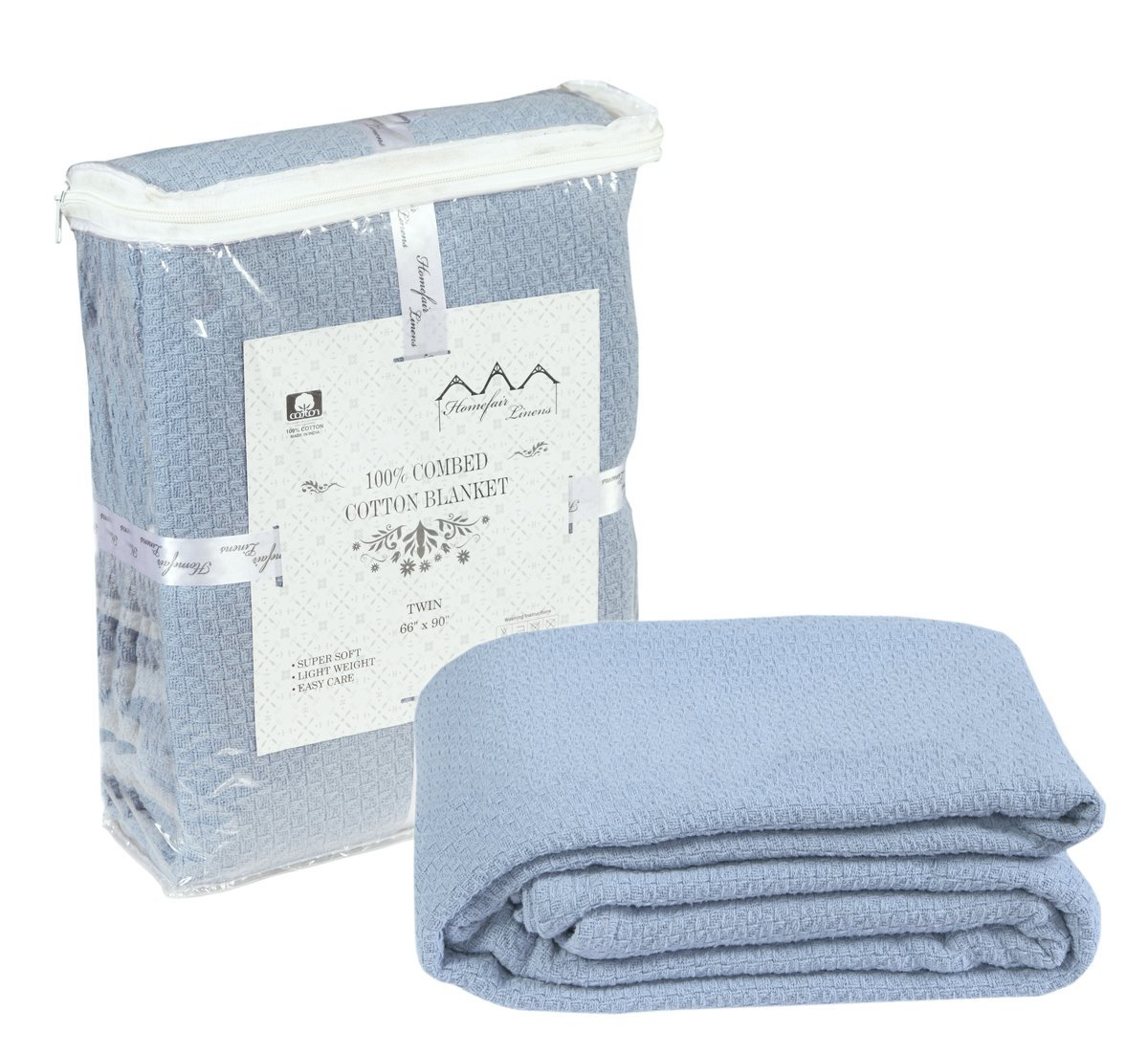 Get Quotations · 100% Premium Soft Cotton Blanket- Queen Blanket - Thermal  Blankets - Soft Cozy   1d39960b4