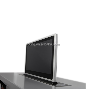 Pop Up Ultra Thin Hidden Desk Lcd Monitor Lift For Conference Room - Buy  Computer Monitor Lift,Desk Monitor Lift,Motorized Monitor Lift Product on