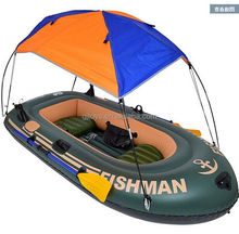 PVC Inflatable Military Boat with sunshade
