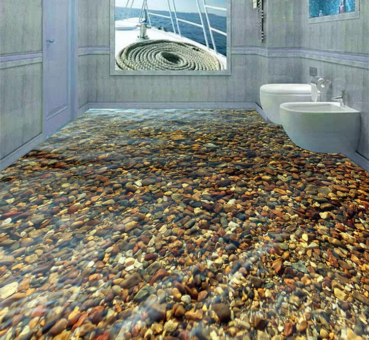 Piso para ba o porcelanato for Pisos decorativos 3d