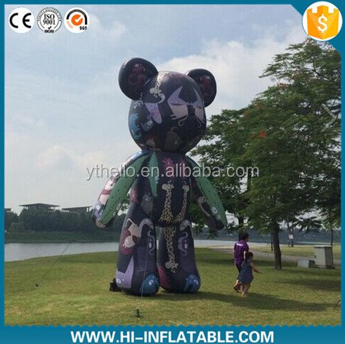 colourful giant inflatable MoMo bear/advertising inflatable cartoon bear