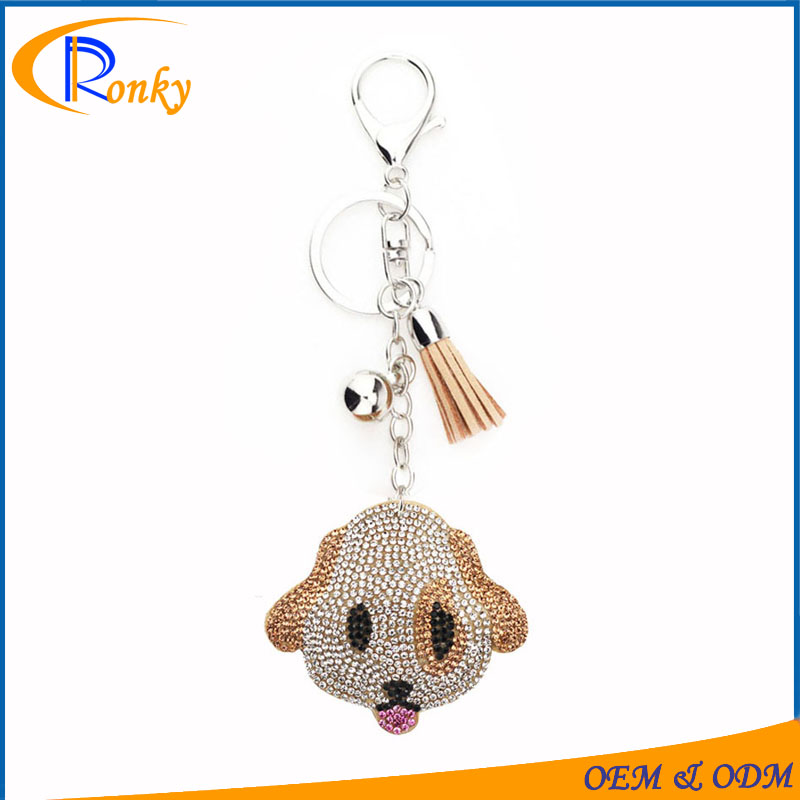 Alibaba stock price china suppliers that accept paypal custom dog rhinestone charms keychain