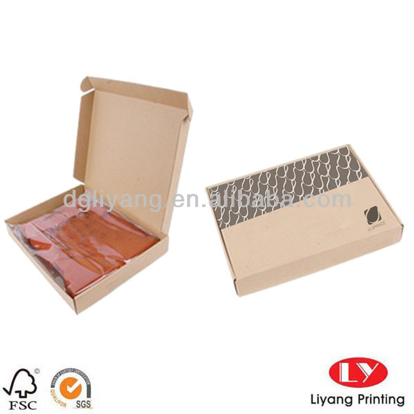 China manufacturer Hot-sell rigid self folding corrugated paper box for clothing packing for shipping