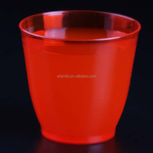 6oz 180ml single use hard pastic polystyrene red cup
