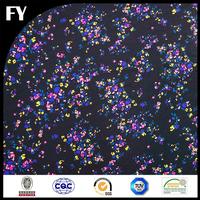 colorful spot digital printing poly chiffon fabric