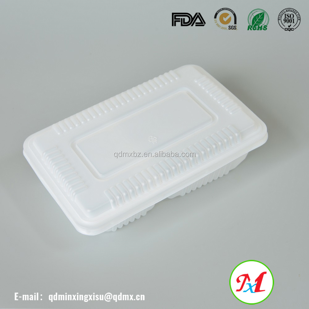 Plastic meal prep plastic fast food disposable packing food containers for bento box wholesale